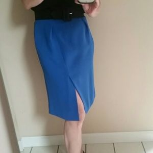 NWT J. CREW Crepe Cobalt Pencil Skirt